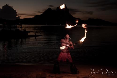 Fire Dancers Bora Bora