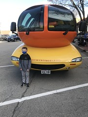 """Paul with the  Wienermobile • <a style=""""font-size:0.8em;"""" href=""""http://www.flickr.com/photos/109120354@N07/50634799007/"""" target=""""_blank"""">View on Flickr</a>"""