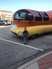 """Paul with the  Wienermobile • <a style=""""font-size:0.8em;"""" href=""""http://www.flickr.com/photos/109120354@N07/50634799342/"""" target=""""_blank"""">View on Flickr</a>"""