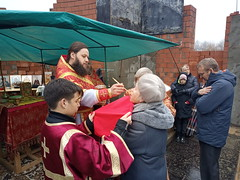 Престольный день в строящемся храме в ст.Кабардинской