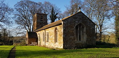 Photo of St Clement's chapel of Ease at Stretton Parava, Leicestershire. With a tottering 13th century tower.