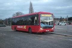 Photo of Trustybus / Galleon Travel ( 2009 ) Ltd . Roydon , Essex . YJ11EHH . Bishop's Stortford Railway Station , Car Park , Hertfordshire . Saturday afternoon 21st-November-2020 .