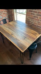 Finished Hemlock dining table Oct 2020
