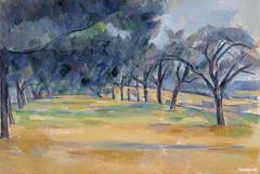 The Allée at Marines (L'Allée de Marines) (ca. 1898) by Paul Cézanne. Original from Original from Barnes Foundation. Digitally enhanced by rawpixel.