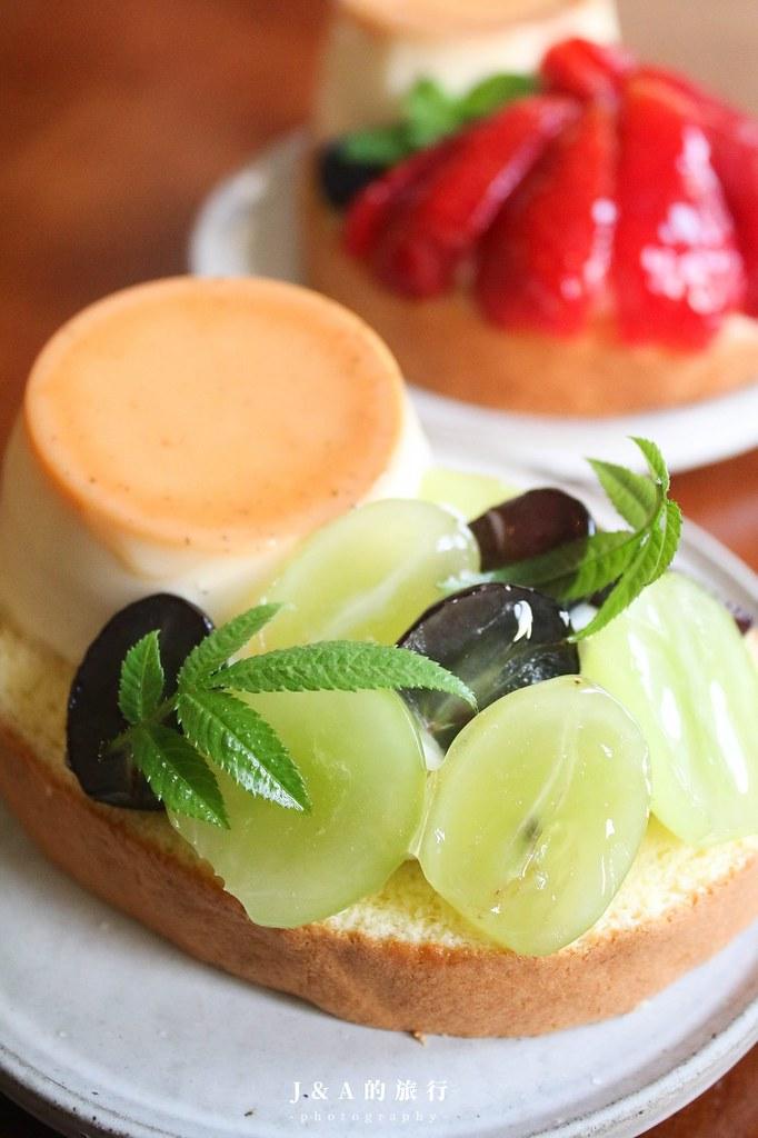 閑閑siansian。老宅改造甜點咖啡店!水果、布丁通通擺在蛋糕捲上,水果系甜點推薦 @J&A的旅行