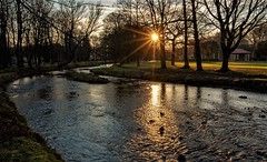 River Brun Sunset in Thompsons Park