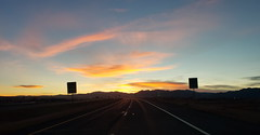 November 18, 2020 - Highway sunset.