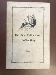1930s - New Walter Hotel restaurant menu