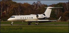 Photo of T7-BLN Gulfstream G450 c/n 4172 ex SX-GAB Oviation Asset Managment (TWO) (Farnborough-EGLF) 24/11/2020
