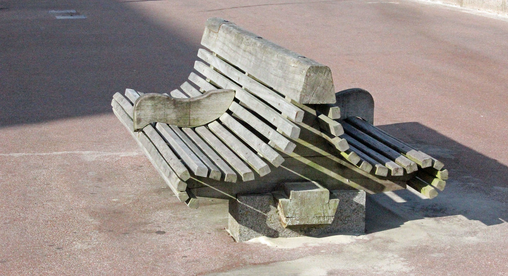 Empty Bench's At Breck, France.