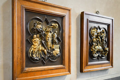 Brunelleschi and Ghiberti, Sacrifice of Isaac (competition panels)