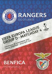Photo of Rangers v Benfica 20201125