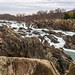 Waterfalls and Jagged Rocks