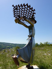 Statue of Sainte Victoire by Yvon Raisin @ Rocher de Léaz