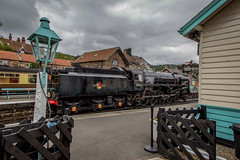 Photo of Cloudy skies at Grosmont.