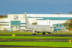 Photo of US Navy Poseidon P8 Lands at Prestwick International Airport