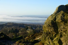 Photo of Mow Cop looking towards Staffordshire