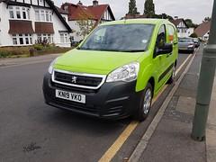 Photo of EV07 KN19 VKO Green Royal Mail electric van, 10th July 2019.