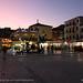 Parga square at dusk