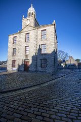 Photo of The Old Town House, dazzled and shadowed. High Street, Old Aberdeen, Aberdeen, Aberdeenshire, Scotland