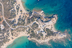 Aerial view of the Cedar Forest of Alyko on Naxos Island, Greece