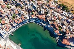 Top down aerial of Kountourioti Coast in Chania, Greece
