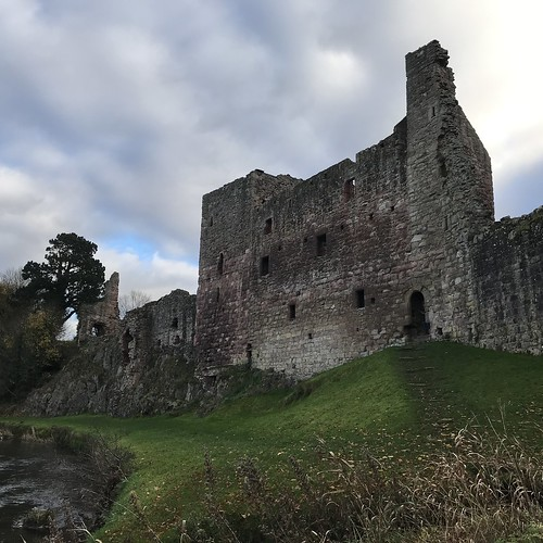 Hailes Castle - view from banks of River Tyne