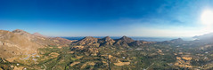Panoramic view of Kourtaliotiko Gorge on Crete, Greece