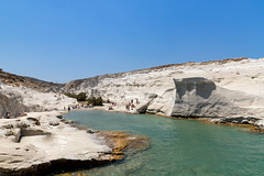 Sarakiniko Beach on Milos Island, Greece