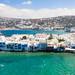 Little Venice in Mykonos, Greece as seen from the south