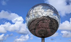 Photo of The massive glitter ball on Blackpool prom