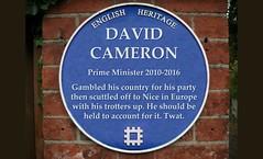 Photo of david-cameron-plaque-data