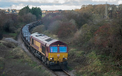 Photo of DB Cargo Class 66, 66039 At North Skelton With Skinningrove Blooms From Scunthorpe - IMGP3236