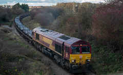 Photo of DB Cargo Class 66, 66039 At North Skelton With Skinningrove Blooms From Scunthorpe - IMGP3239