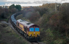 Photo of DB Cargo Class 66, 66039 At North Skelton With Skinningrove Blooms From Scunthorpe - IMGP3237