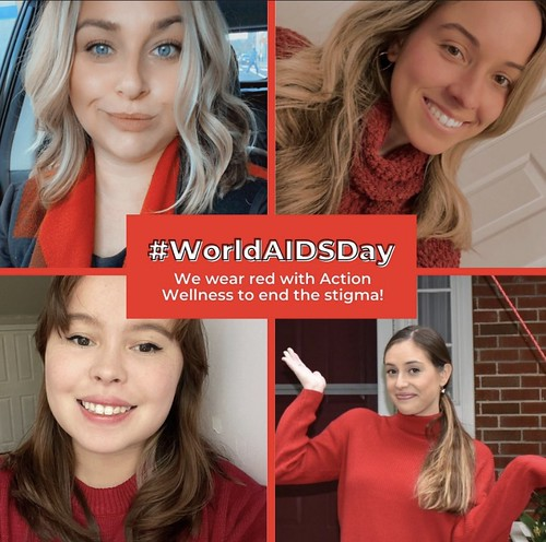 Action Heroes Wear Red for World AIDS Day