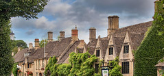 Photo of Burford roofs. Sheep Street, Burford in the Oxfordshire Cotswolds.