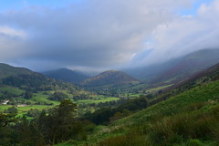 Photo of 20LAK157 Troutbeck Tongue, with the surrounding fells in cloud, from the Garburn Road