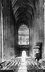 Photo of kent - canterbury cathedral nave looking west postcard