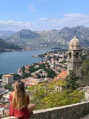 Admiring Kotor, montenegro