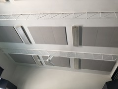 Reduced Noise Ceiling Panels in Classroom