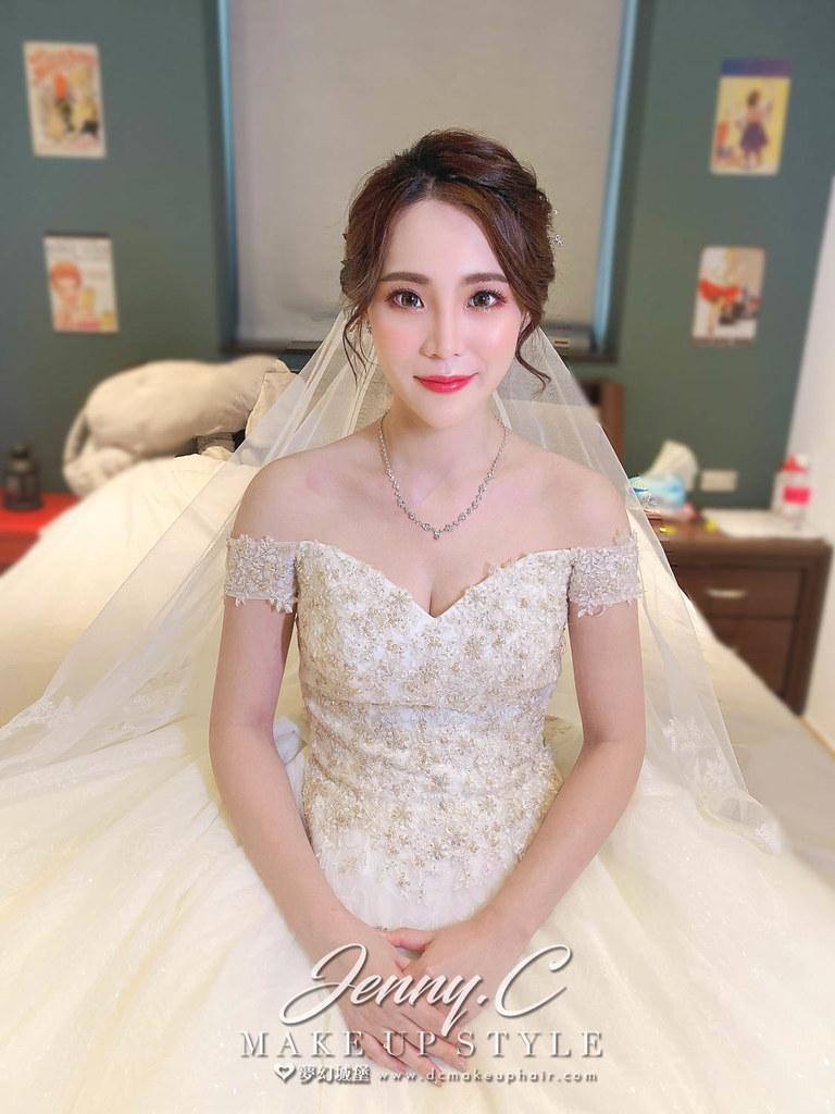 【新秘蓁妮】bride 逸珊 訂結婚造型 / 龍鳳掛,歐式優雅
