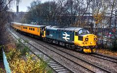 Photo of 37025 tnt 37254 1Q83 Blackpool North-Derby test train, Daisyfield Junction Blackburn 04.12.2020