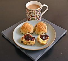 Photo of Fruit scones ... with damson jam