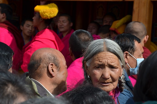Face on the crowd, Xiahe, China