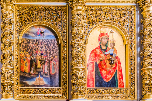 Icons on the Iconostasis, Dormition Cathedral, Kyiv