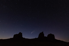 Comet NEOWISE from Trona Pinnacles