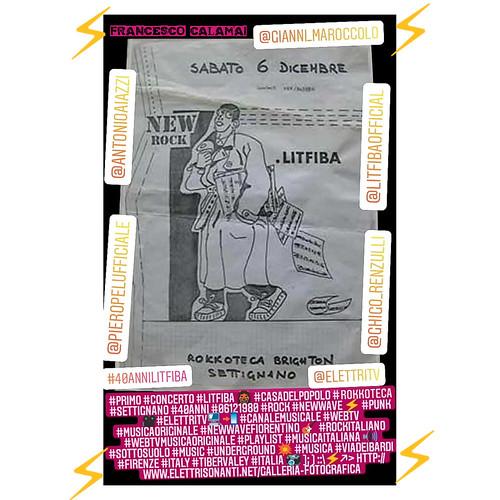 #primo #concerto #Litfiba 👹 #casadelpopolo #rokkerilla #settignano #40anni #06121980 #rock #newwave ⚡ #punk  🎥#elettritv💻📲 #canalemusicale #webtv #musicaoriginale #newwavefiorentino 🎸 #rockitaliano #w