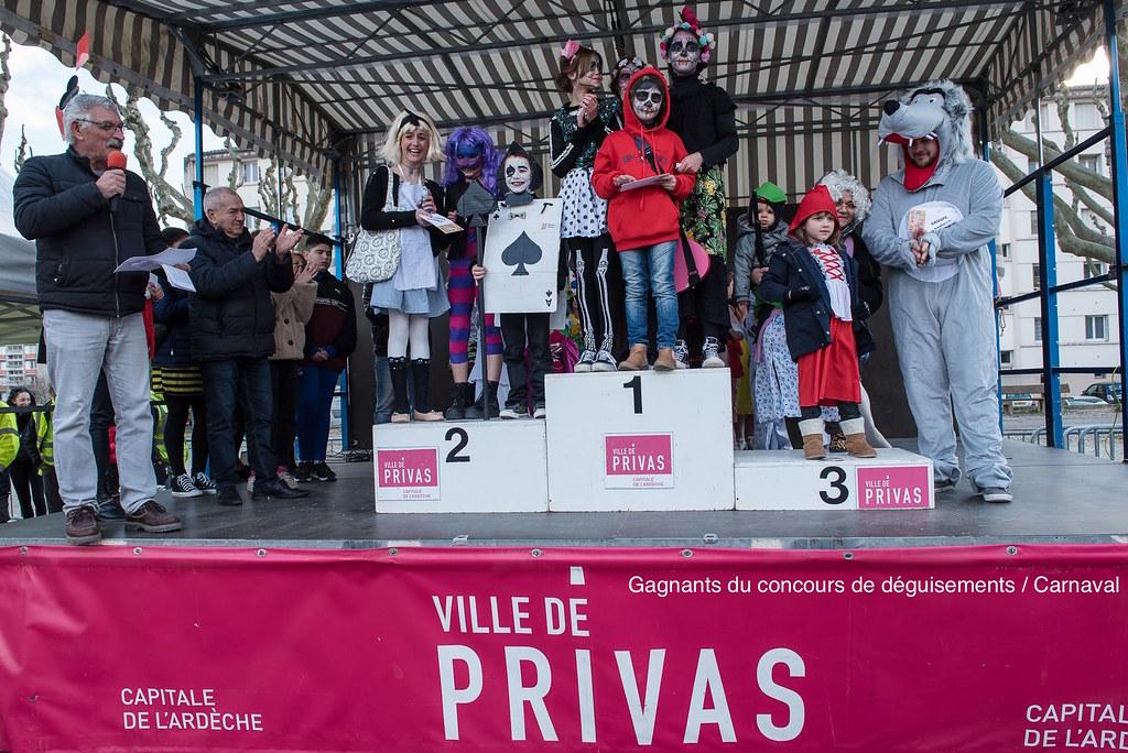 Podium Général Concours de déguisements Carnaval 2020