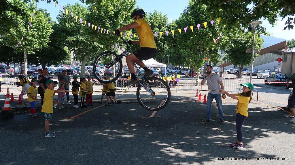 Démonstration Vélo à l'Ardéchoise